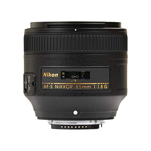 Nikon AF S NIKKOR 85mm f/1.8G Fixed Lens with Auto...