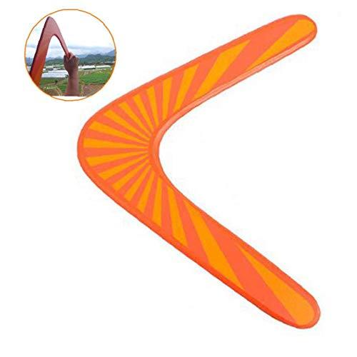 Boomerang De Madera Al Aire Libre Fun Sports Plástico Boomerang Parque Al Aire Libre Especiales Juguetes Voladores Que Vuela Por Los Hijos Adultos