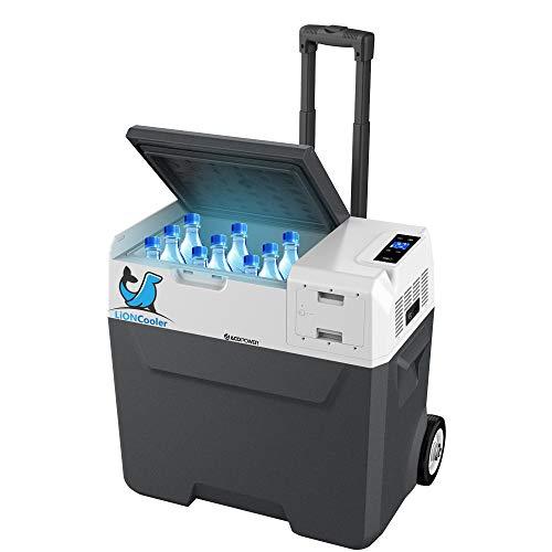 """LiONCooler X50A Battery Power Solar Fridge Freezer with Solar/AC/Car Rechargeable Battery, App Control, 6"""" Large Wheels (52 Quarts)"""