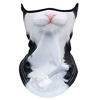 JOJOO Breathable Bandana Face Mask Anti-UV Windproof Balaclava 3D Print Animal Neck Gaite for Outdoor Sport  P-4