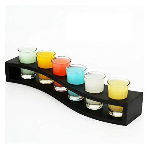 QLTY Juego de Copas de Vino de Vidrio sin Plomo / 30 ml,Copa de Vino de 6 Piezas con portavasos,Copa de cóctel,Copa de Whisky,Copa de Licor,Vaso de Whisky