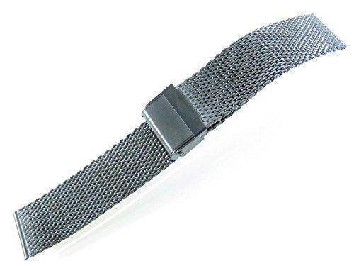jrrs7777 22 mm Reloj de Acero Inoxidable de Malla Pulsera Nu