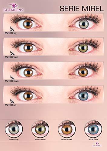 """Sehr stark deckende und natürliche graue Kontaktlinsen SILIKON COMFORT NEUHEIT farbig """"Mirel Grey"""" + Behälter von GLAMLENS – 1 Paar (2 Stück) – DIA 14.00 – ohne Stärke 0.00 Dioptrien - 3"""