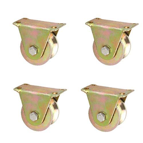 4 Piezas De Forma De U Rueda De Ranura Rueda Direccional Rueda De Carga Industrial, Ruedas Direccionales Rodillos, para Puerta Corrediza De Gabinete De Cocina ruedas para muebles ruedas para palets