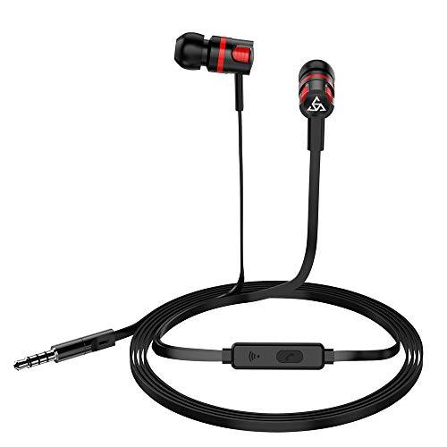 Fones de ouvido intra-auriculares com fio Docooler PTM fones de ouvido estéreo para jogos com controle integrado e microfone para PSP, iPhone, iPad, Android, smartphones, tablet, PC, laptop