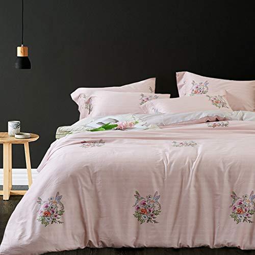 Teyun. Hochwertige High-Density-Vier Stücke Sätze der Bettwäsche Bettwäsche aus Baumwolle gebürstet Bettwäsche Pillowcase (Color : 03, Size : 200 * 230CM)