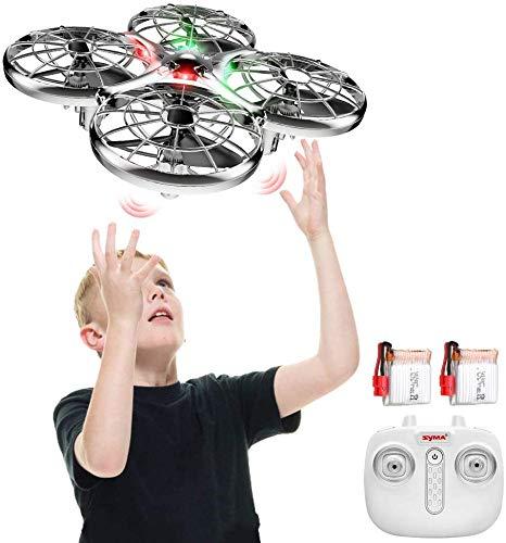 SYMA Drohne für Kinder handgesteuert, Mini drohne mit 2 Akkus, quadrocopter Drone for Kids mit Höhehalten, Kopfloser Modus, 3D Flips und 2 Geschwindigkeitsmodi für Kinder