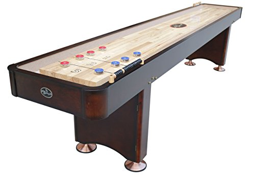 Playcraft Georgetown Shuffleboard Table, Espresso, 12-Feet