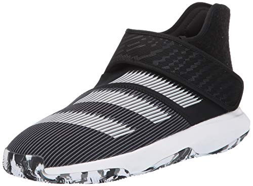 adidas Men's Harden B/E 3 Basketball Shoe, Black/White/Grey, 11 M US