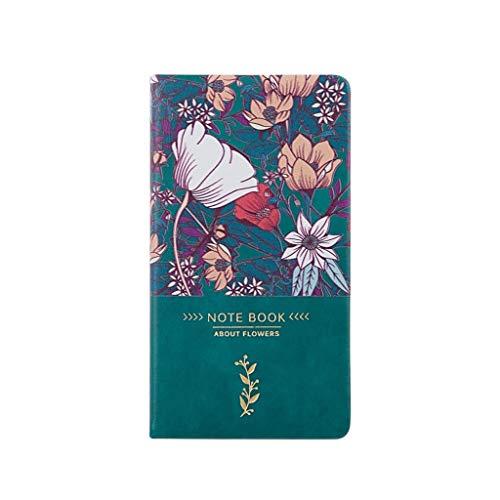 Cuadernos de Diario en Blanco de Papel Rayado Plan Libro de visitas de Cuero Floral de PU Fiesta Reuniones Iniciar sesión Libro Calendario Cuaderno Exquisito Cuaderno Exquisito Libro Creativo Retro a