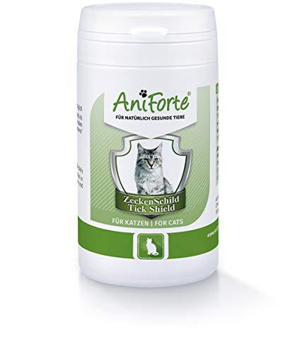 AniForte Zeckenschutz für Katzen 60 Kapseln - Natürlicher Zeckenschild durch Hautbarriere, Abwehr gegen Zecken und Parasiten, Anti-Zecken Schutz, Zeckenabwehr