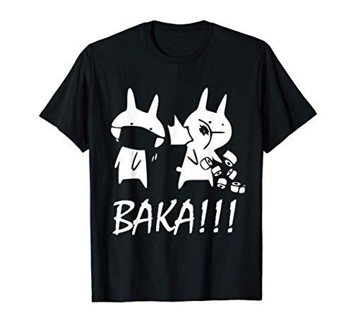 Japon Baka Rabbit slap in the face Anime Manga Otaku T-Shirt