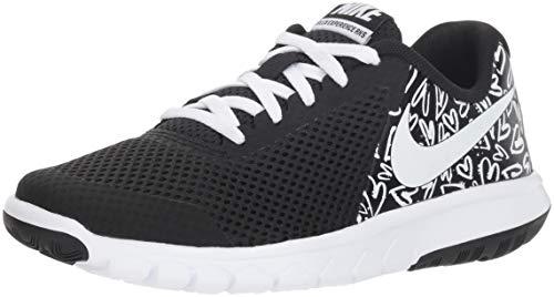 Nike Unisex-Kinder Flex Experience 5 Print Gs Laufschuhe, Schwarz (Black/White/Lava Glow), 37.5 EU