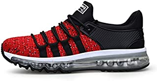 BEESCLOVER Men's Running Shoes Cool Light Breathable Sport Shoes for Men Sneakers for Outdoor Jogging Walking Shoe Big Size 39-47 001 red Black 7