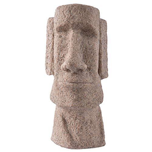 ZYBZYH Isla De Pascua Moai Estatua DecoracióN para El Hogar Y Adornos De JardíN Estatuas Figura De ColeccióN Escultura De Polyresin Manualidades Regalo