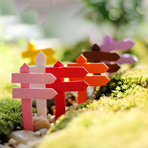 Figurine Bonsai - 10pcs Diy Micro Landscape Wood Crafts Sign Board Signboard Miniatures Fairy Garden Gnome Moss - Driver Sign Wooden Fairi Tv Wooden Decor Wooden Wooden FamilyWood Sign M