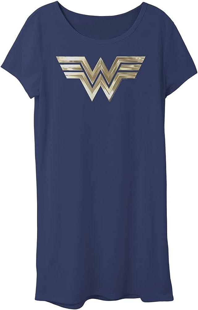 Warner Bros. Girls Wonder Woman 2020 Metallic Logo Girl's Tee Dress