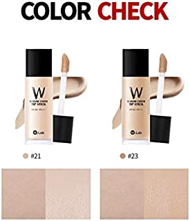 W.Lab W-Snow Cover Tip Stick Liquid For Cover Full Coverage Fluid Liquid Foundation Concealer, 40ml, SPF 50 PA+++ (#21)