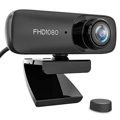 Kdely Webcam mit Mikrofon HD 1080P USB 2.0 Plug & Play PC Laptop Desktop Webkamera mit Automatischer Lichtkorrektur für Windows/Mac OS X/Skype/Facetime/Facebook/Zoom/YouTube/Twitch