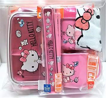 OSK Hello Kitty - Juego de Fiambrera (plástico), diseño de Hello Kitty