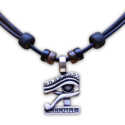 HANA LIMA ® Lederkette Halskette Halsband Ägypten Auge des Ra