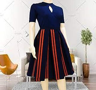 EMF- Women's Knee Length Pleated Skirt