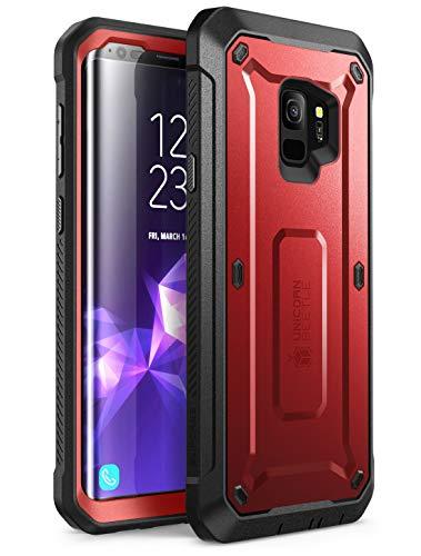 SUPCASE Coque Samsung Galaxy S9, Coque de Protection Intégrale Robuste Anti-Choc avec Protecteur d'écran Intégré [Série Unicorn Beetle Pro] pour Samsung Galaxy S9 2018 (Rouge)