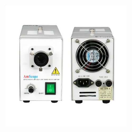 AmScope 150w Microscope Illuminator Light Source Control Box