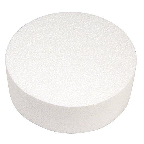 Rayher, Disco in polistirolo, Diametro: 20cm, Altezza: 7cm, Ideale Come Base per Torte o Torte finte