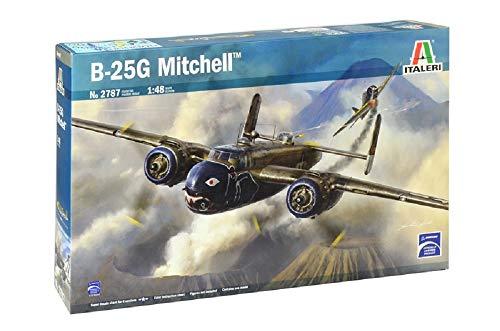ITALERI 2787S - 1:48 B-25G Mitchell, modelbouw, bouwpakket, standmodelbouw, knutselen, hobby, lijmen, plastic kit, detailgetrouw