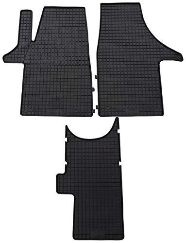 PETEX Gummimatten passend für T5 ab 05/2003 / T6 ab 06/2015 Führerhaus 2-Sitzer Fußmatten schwarz 3-teilig