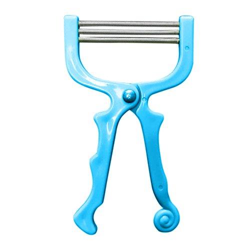 Luccase Haarentferner Entfernt Gesichtshaarentfernungs Werkzeug Gesicht Schönheit Werkzeug 3 Epilierer Entfernung Federgewinden für Stirn Wangen Oberlippe Kinn (Blau)