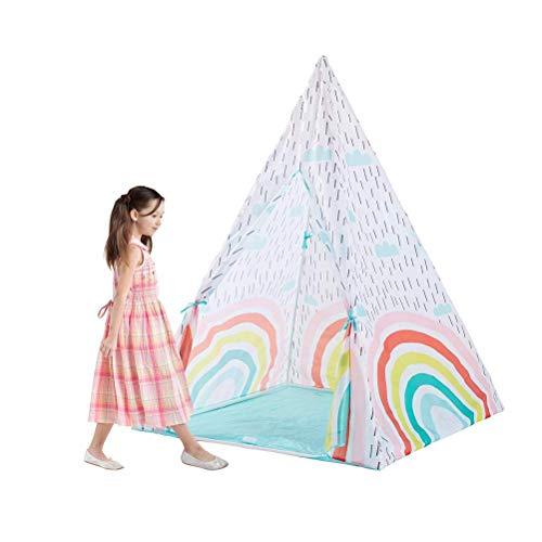Tienda de campaña para niños de la India, Tienda de campaña para bebés, Piscina, casa de Juguete, mosquitera, Princesa Dreamy Rainbow, Sala de Juegos, Tipi para niños Wigwam, Regalo para niñ