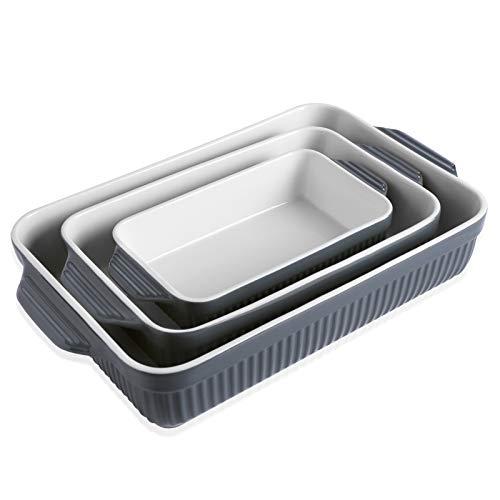 Kanwone Baking Dishes, Ceramic Bakeware Set, Rectangular...