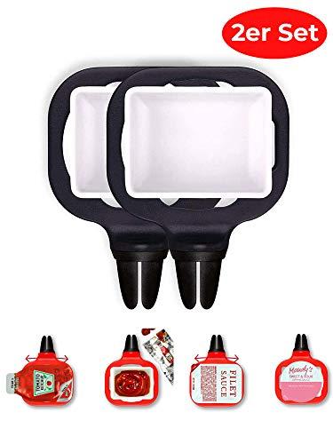 NWLS Dip n' Drive® Soßenhalter für Ihr Auto | Soßenhalter Saucenhalter für Dips und Soßen Aller Art | Dip Clip | passt in alle Lüftungsschlitze jeglicher Art und Größe |