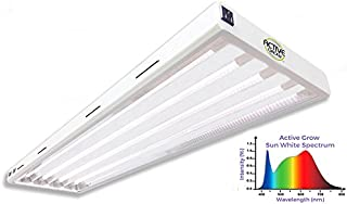 Active Grow T5 LED Grow Light Fixture for Indoor Gardens, Hydroponics & Vertical Racks - Contains (4) 24W T5 HO 4FT LED Tubes - Sun White Full Spectrum (High CRI 95) - UL Listed