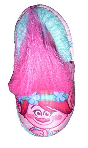 BBC Int'l Toddler Girls Trolls Poppy A-Line Slippers (Toddler US Girls 9/10) Pink Blue