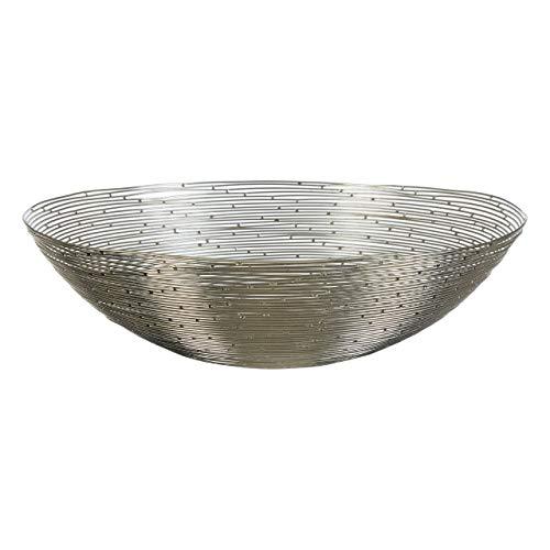 Premier Housewares - Ciotola Decorativa, in Metallo, Colore: Argento