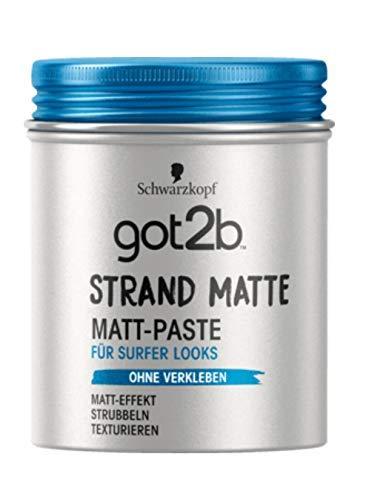Schwarzkopf got2b Strand Matte Matt-Paste , 100 ml