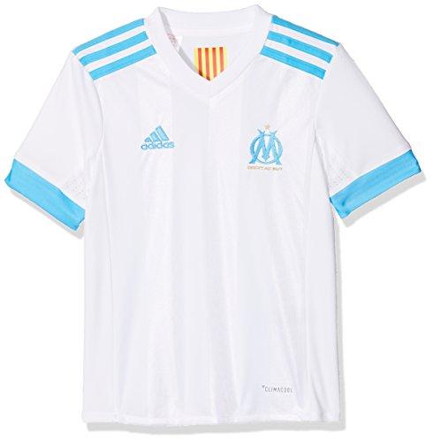 adidas OM Replica Home Camiseta 1ª Equipación Olympique Marsella 2017-2018, niños, Blanco...