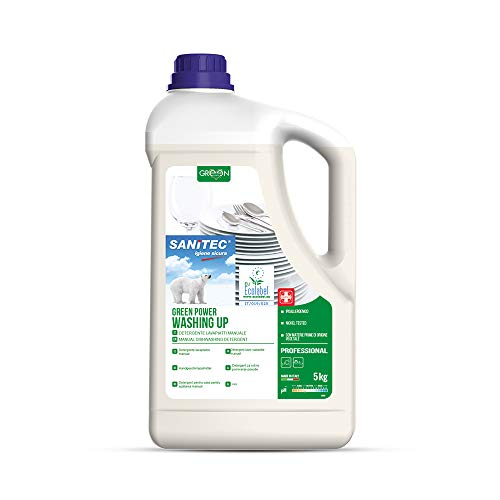 Sanitec Green Power Piatti, Detersivo Liquido Ecologico, 5 kg