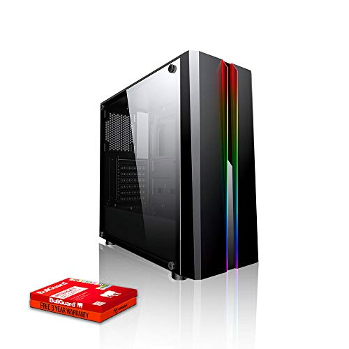 Fierce Dominator RGB Gaming PC - Veloce 3.9GHz Hex-Core AMD Ryzen 5 2600, 500GB Disco a Stato Solido, 16GB 3000MHz, NVIDIA GeForce GTX 1660 Ti 6GB, Finestre non Incluso 1134665