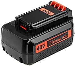 Upgraded 40v 3.0Ah Battery for Black and Decker 40V Lithium MAX Battery Replacement LBX2040 LBXR36 LBXR2036 LST540 LCS1240 LBX1540 LST136W Cordless Tools 1Pack