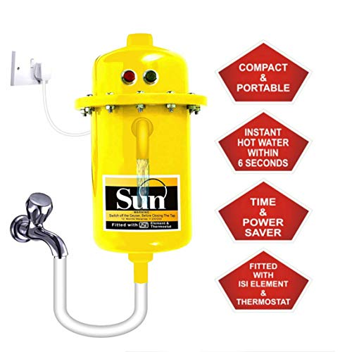 WinoteK Sun Instant Water Geyser, Water Heater, Portable Water Heater, Geysers Made...