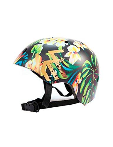 KRF The New Urban Concept Tropic Casco Multideporte Skate   Patinaje   Bicicleta   Monopatin, Multicolor, S (50-54CM)