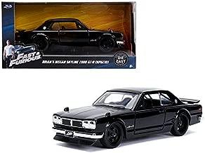 DIECAST 1:32 W/B - Metals - Fast & Furious - Brian's Nissan Skyline 2000 GT-R (KPGC10) (Black) 99602 by JADA