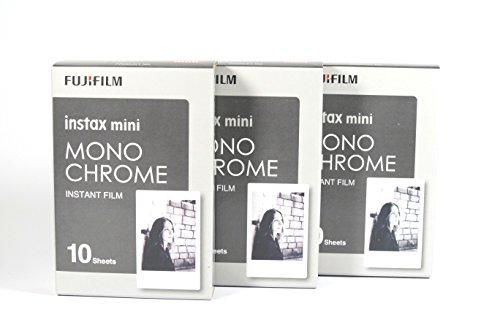 Fujifilm 16531958Instax 3x 10Película Mini cámara, Monochrome Ww1Negro/Blanco
