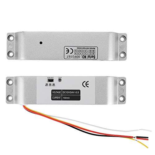 Cerradura eléctrica magnética 1000KG, DC12V Puerta de inducción Control de acceso de entrada Cerradura eléctrica de puerta abatible para sistema de seguridad con retardo de tiempo