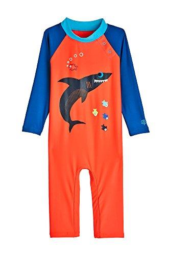 Coolibar Baby UV-Schutz Badeanzug, Haifisch, 12-18 mnd