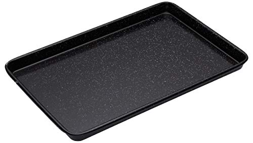 masterclass Großes Professional Backblech, Emaille, Schwarz, 39 x 27 x 2 cm